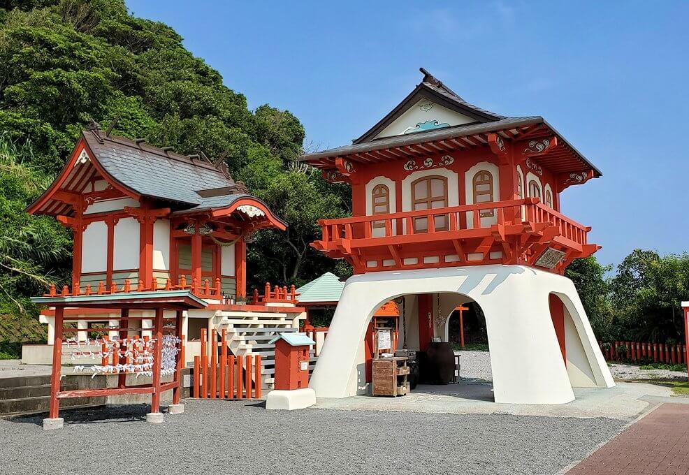 長崎鼻にある龍宮神社