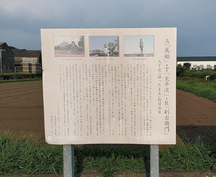 JR最南端「西大山駅」のホームにある看板
