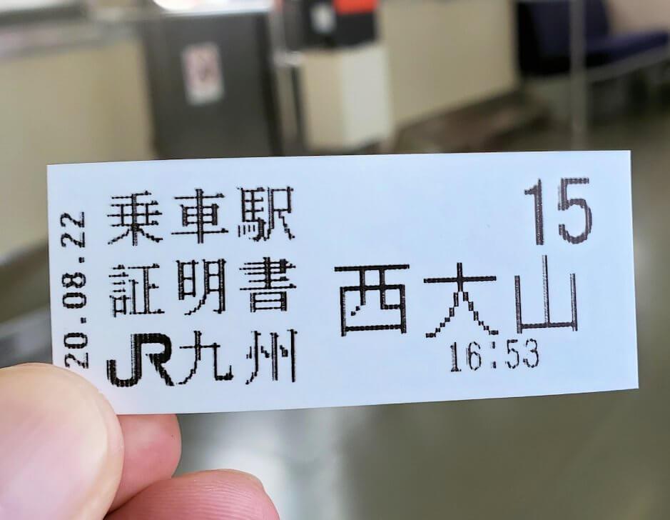 JR最南端「西大山駅」で電車に乗る