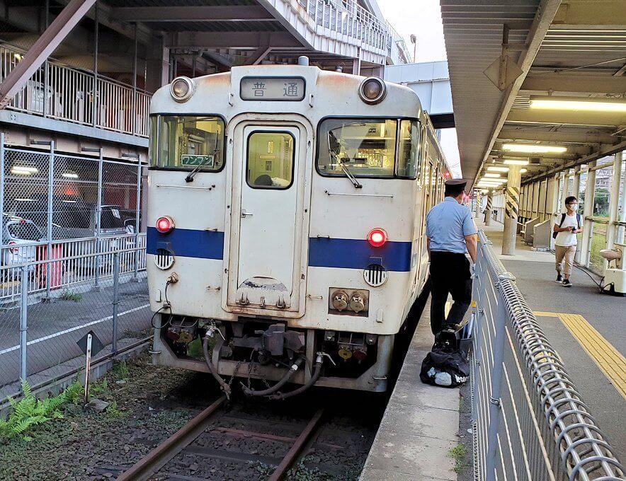 JR指宿枕崎線で鹿児島中央駅に到着