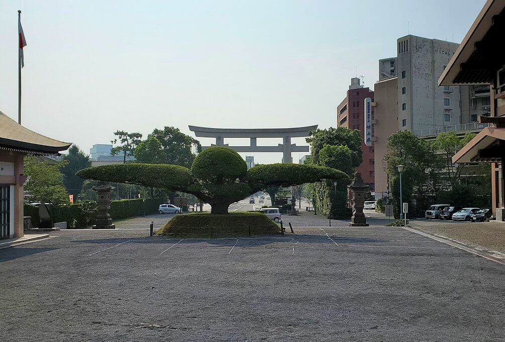 鹿児島市内の照国神社の様子