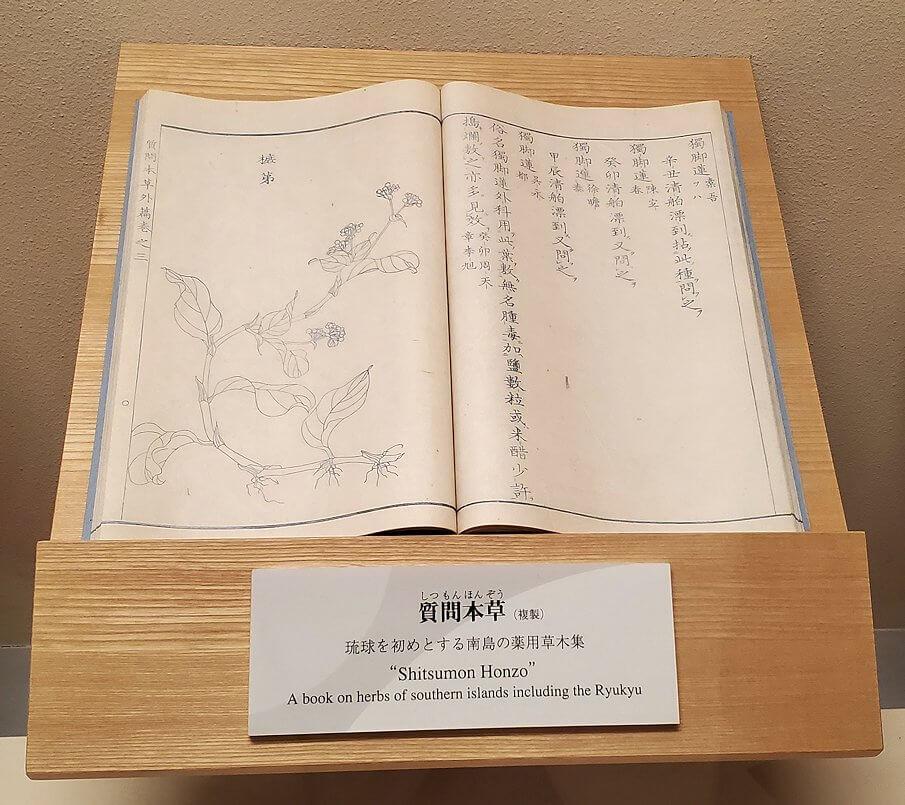 資料館にある島津重豪が造らせた本