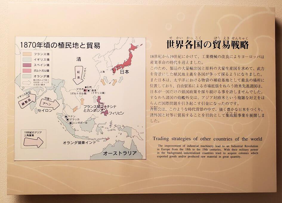 資料館にある、西洋からの侵略の歴史