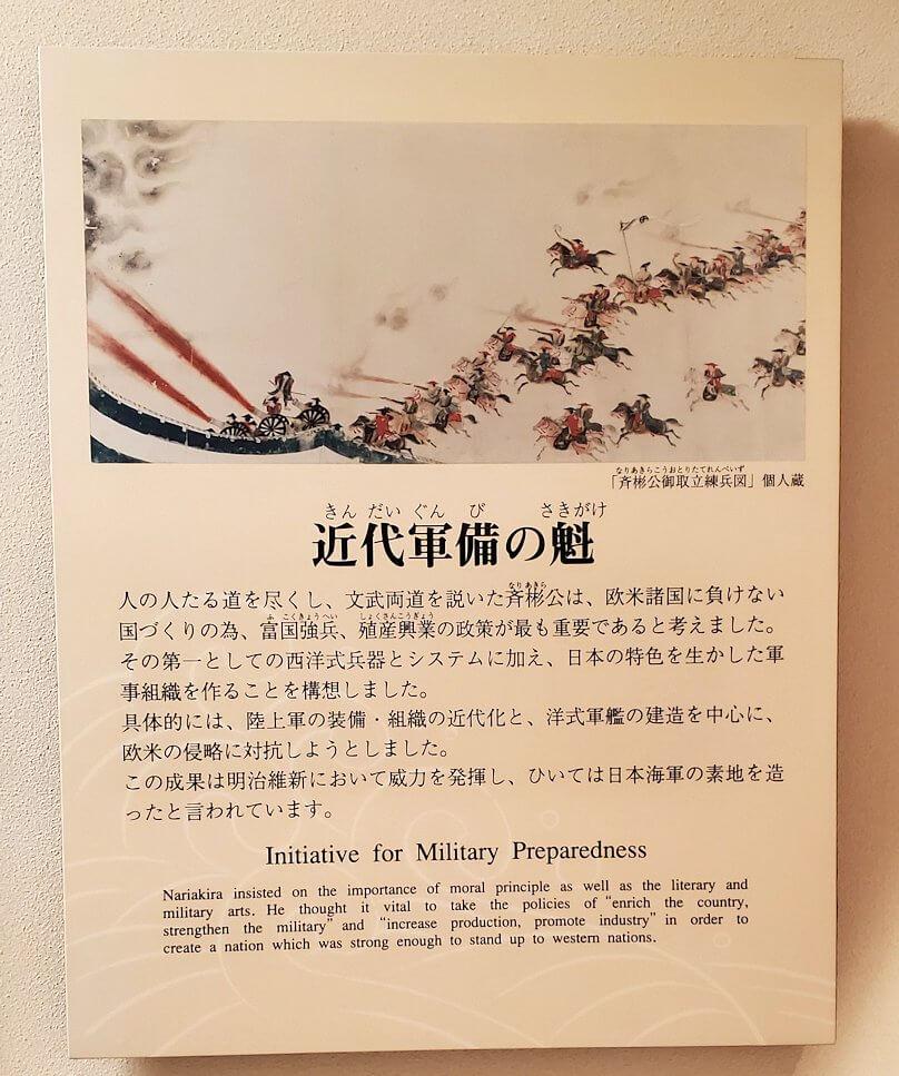 島津斉彬が動いた近代国家への説明パネル