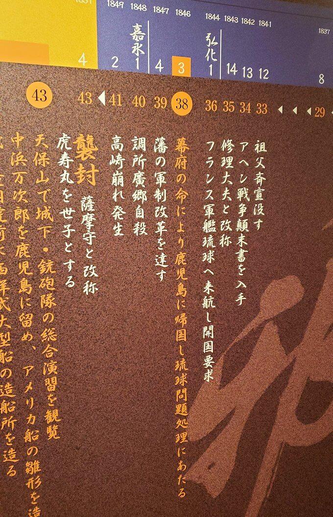 島津斉彬の歴史について書かれていたレリーフ3