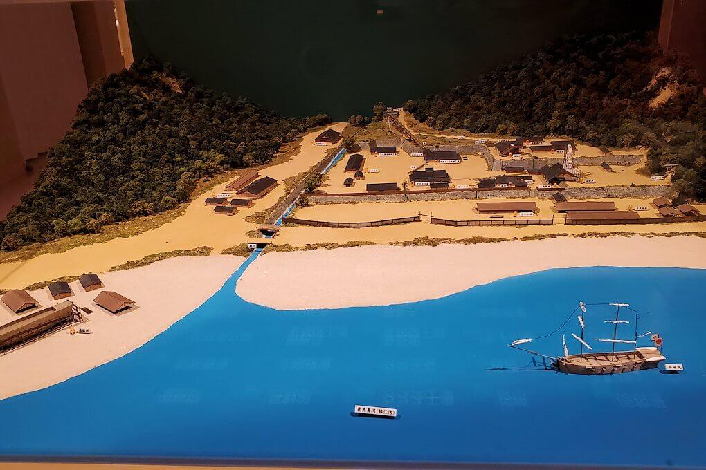 集成館跡の模型