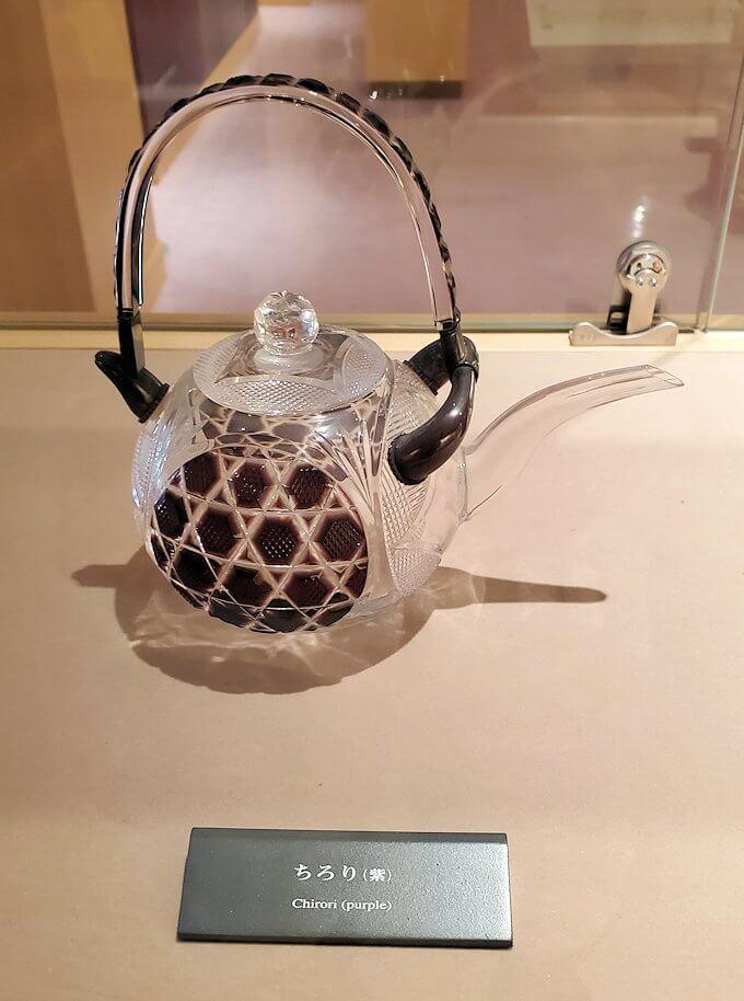 照国資料館にある、薩摩切子の作品