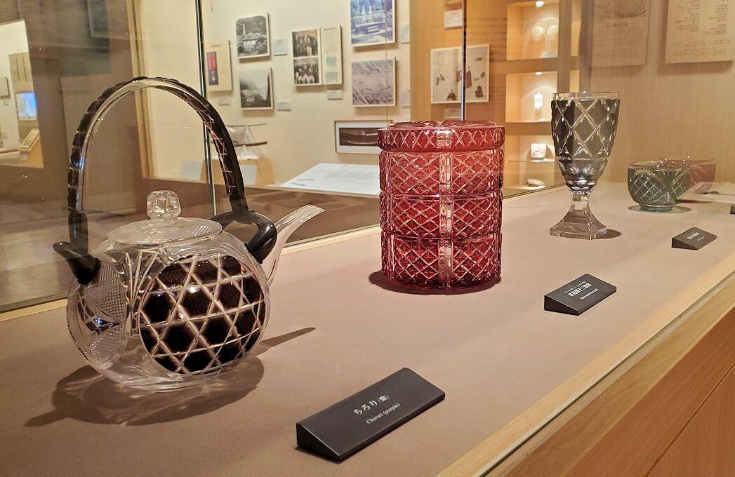 照国資料館にある、薩摩切子の作品4