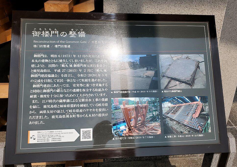 鶴丸城跡地の説明板