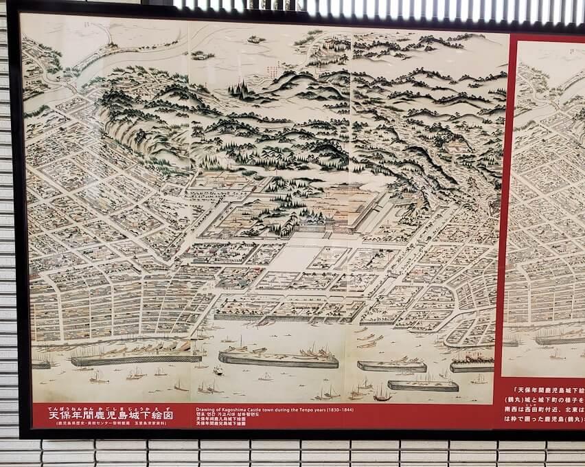 鶴丸城の見取り図