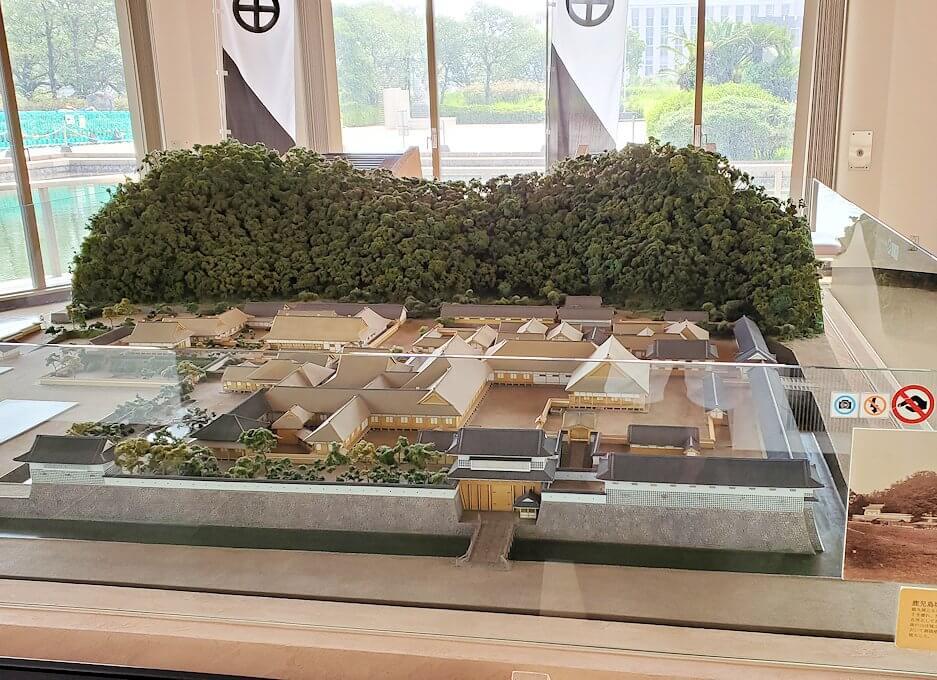黎明館にある、出水武家屋敷群を再現した模型1