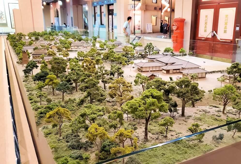 黎明館にある、出水武家屋敷群を再現した模型2