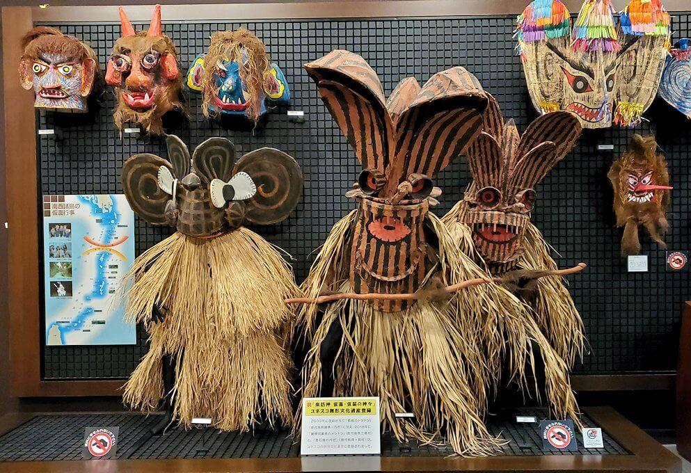 黎明館にある、鹿児島に昔から伝わる祭の衣装
