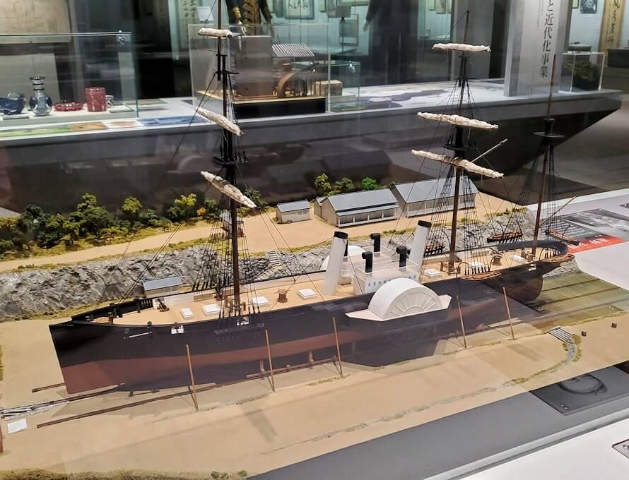 黎明館にあった船の模型