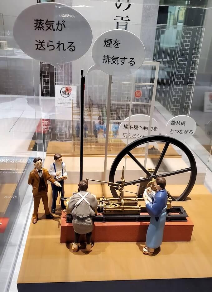 黎明館にある、蒸気機関を開発している人形