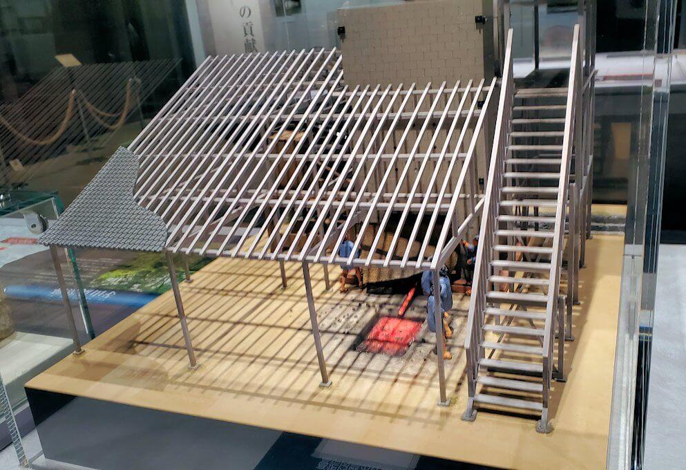 黎明館にある、反射炉の模型