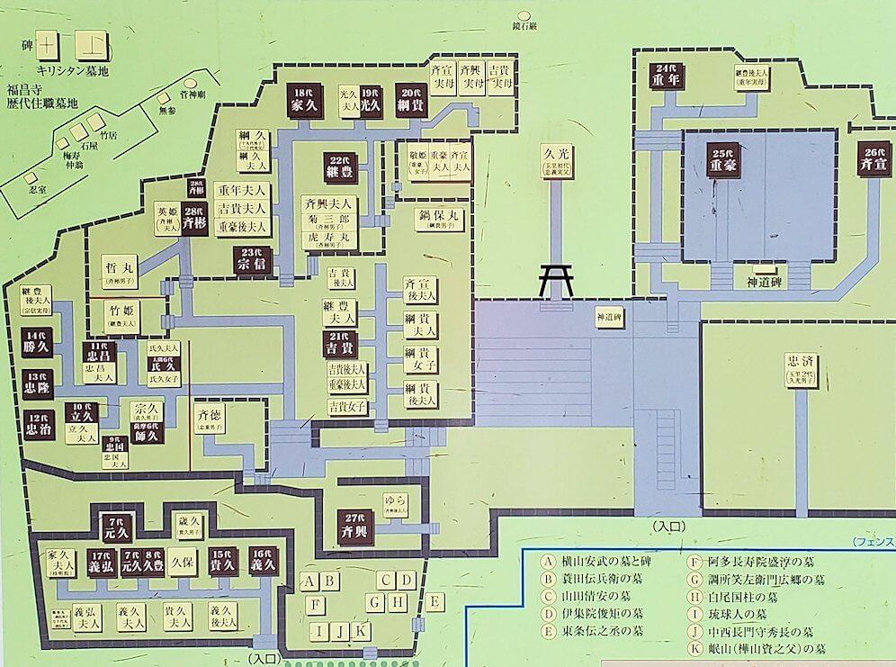 福昌寺跡内の地図1