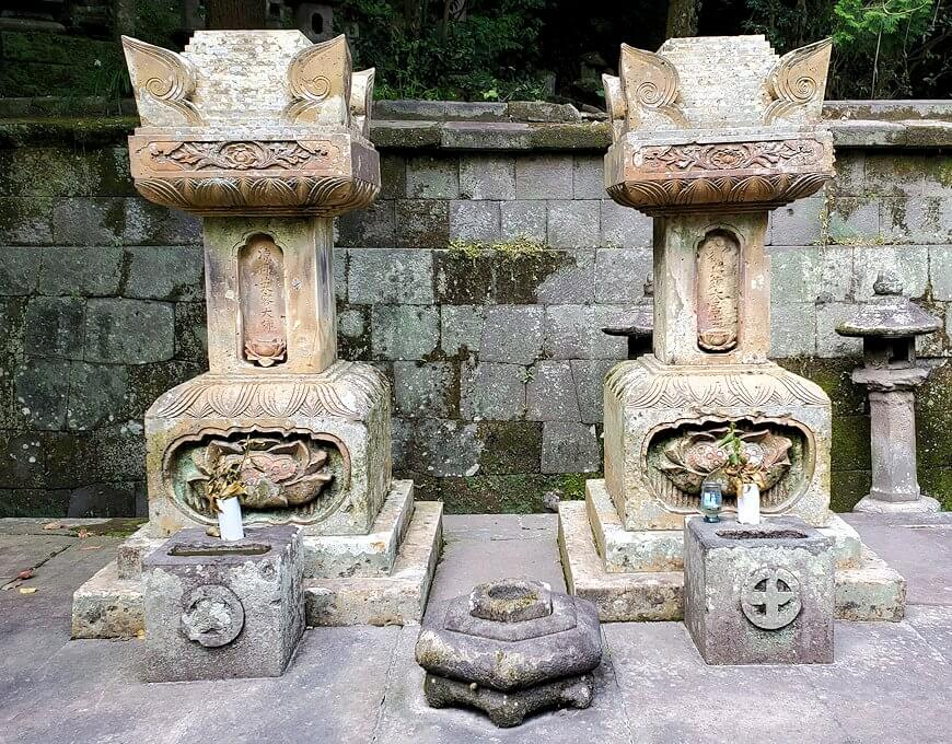 福昌寺跡で島津斉彬公のお墓を発見2