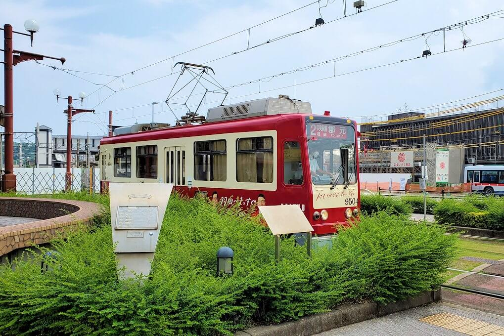 JR鹿児島市駅近くを走る市電