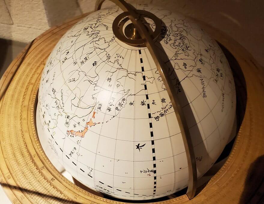 維新ふるさと館内にあった、地球儀1