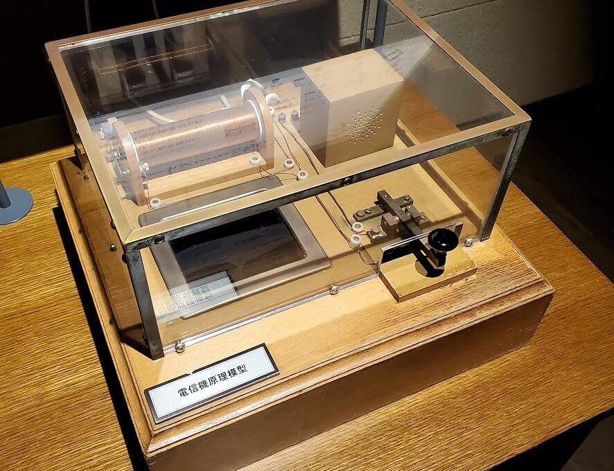 維新ふるさと館内にあった、電信機の模型