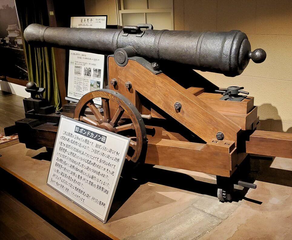 維新ふるさと館内にあった、キャノン砲の模型1