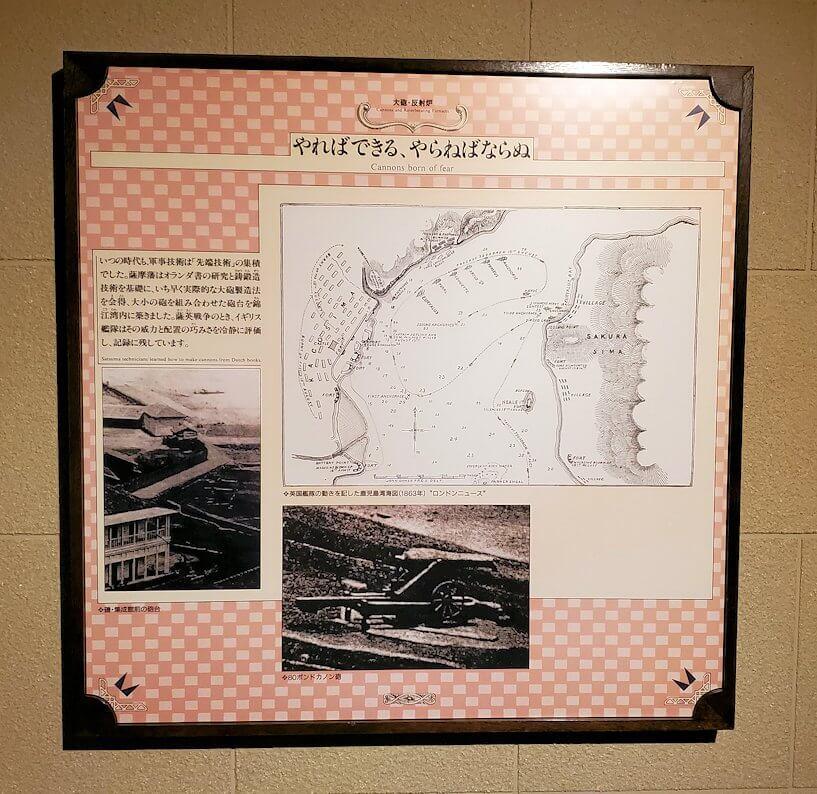 維新ふるさと館内にあった、薩英戦争の説明