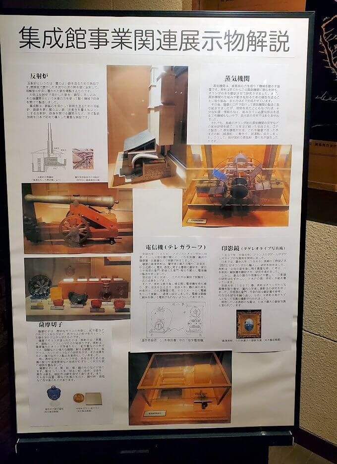 維新ふるさと館内にあった、反射炉の説明