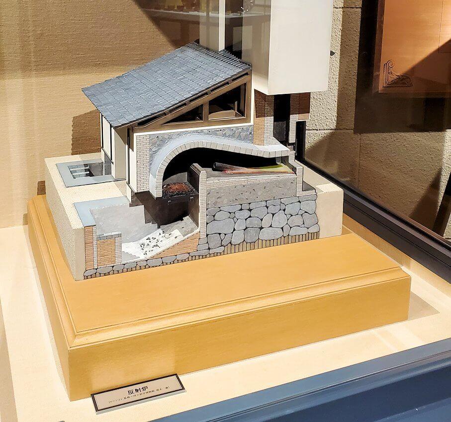 維新ふるさと館内にあった、反射炉の模型