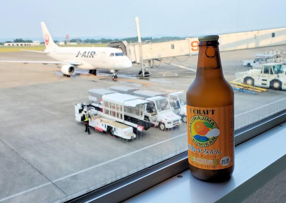 鹿児島空港ターミナル内の景色
