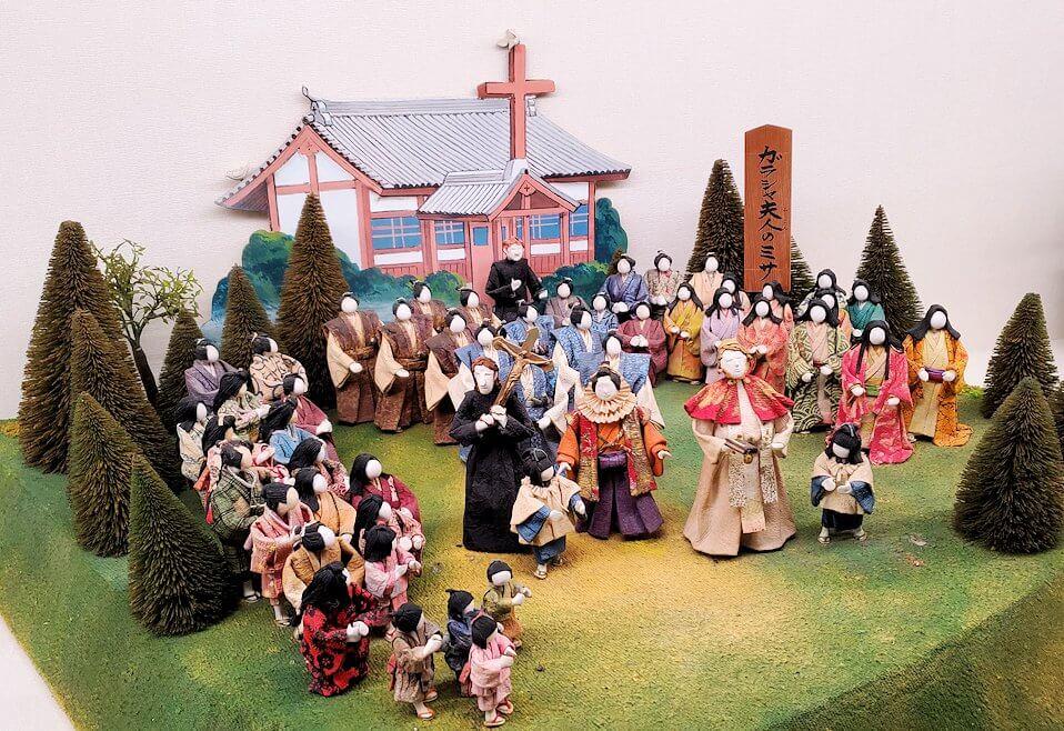 小倉城内にあるキリスト関連のミニチュア