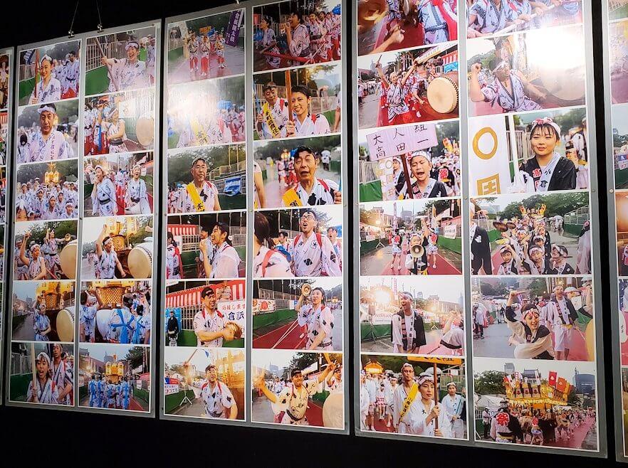 小倉城内にある、祭太鼓の写真