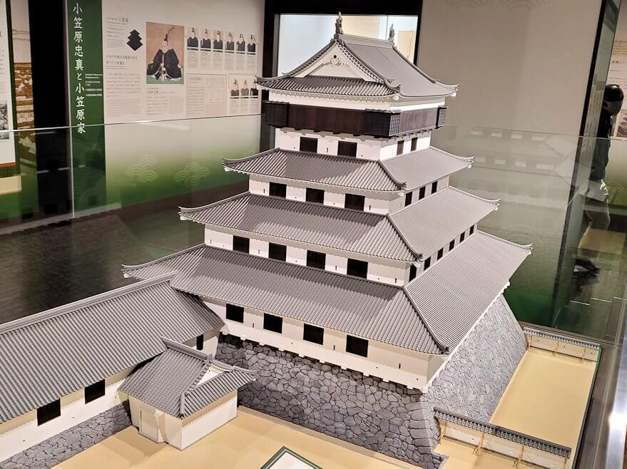 小倉城内にある、お城のミニチュア