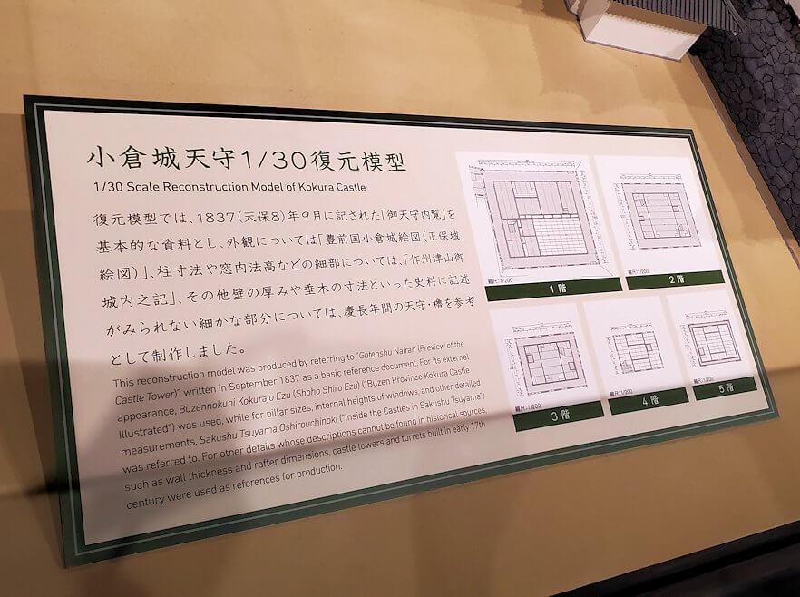 小倉城内にある、お城の説明