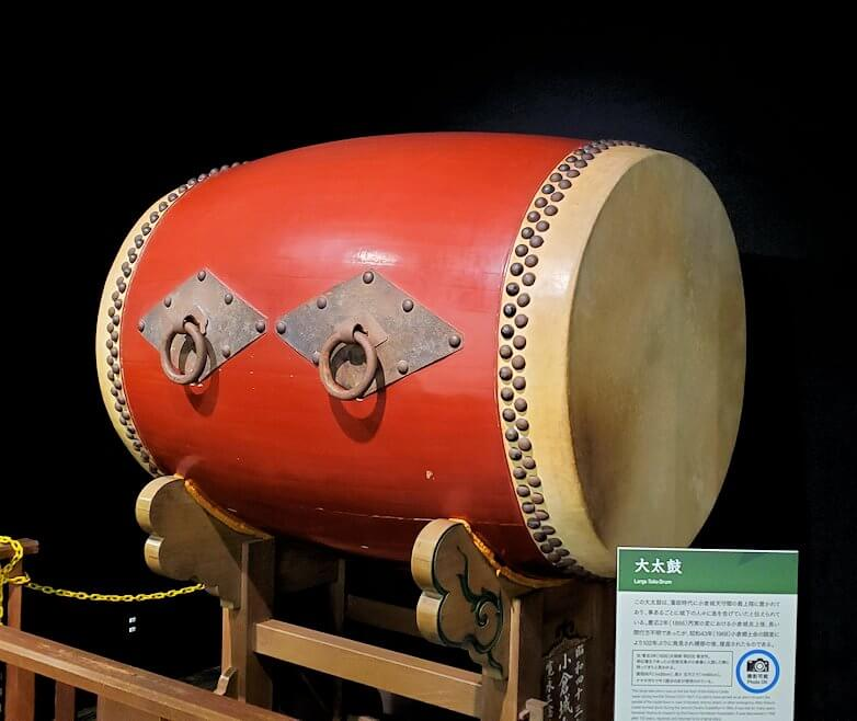 小倉城内にある、祭太鼓に使われる太鼓