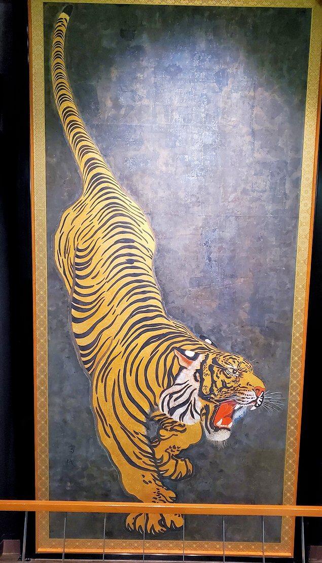 小倉城内にある、虎の絵-1