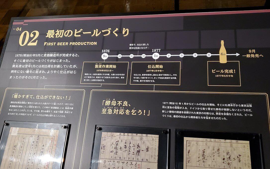 「サッポロビール園」内にある歴史資料館のパネル11
