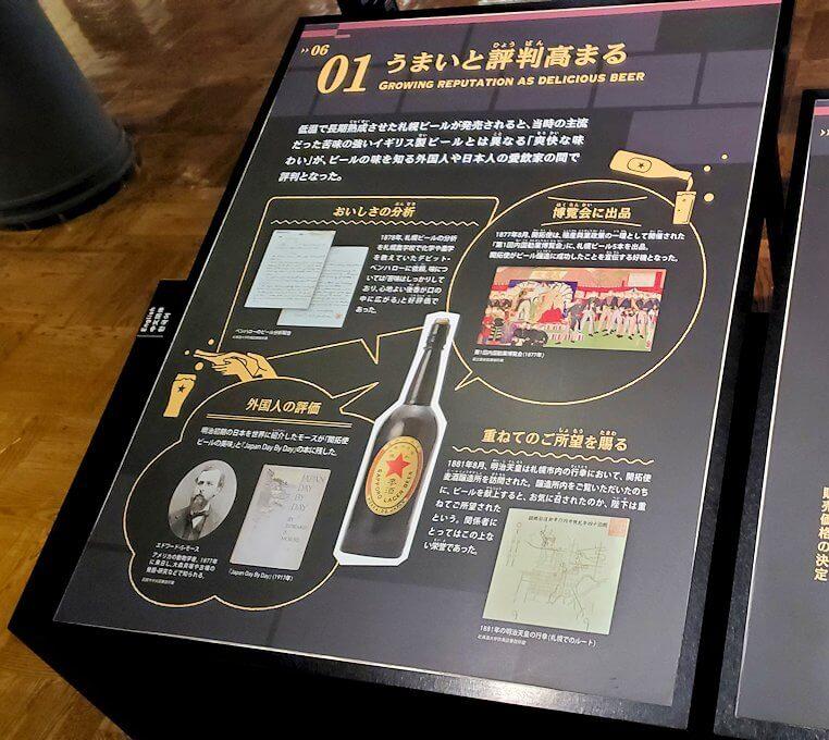 「サッポロビール博物館」内の資料パネル1