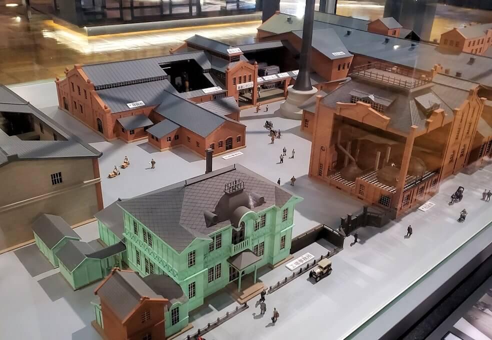「サッポロビール博物館」内の昔のビール工場の模型