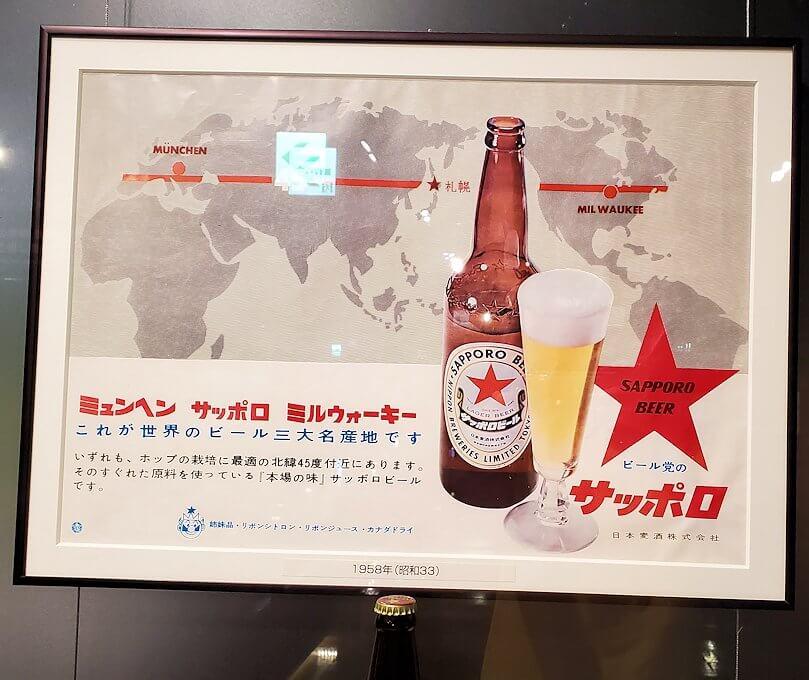 「サッポロビール博物館」内にあった資料パネル5