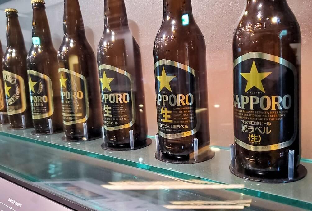 「サッポロビール博物館」内にあった歴代ビール瓶1