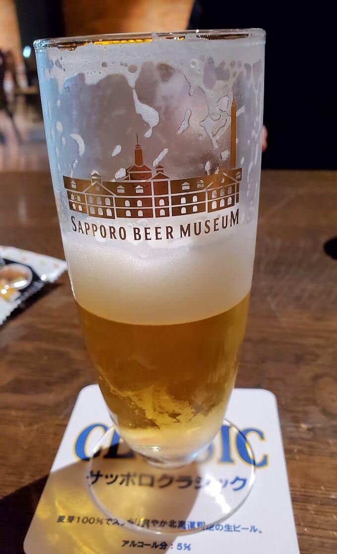 「サッポロビール博物館」奥にある試飲コーナーで飲んだビール