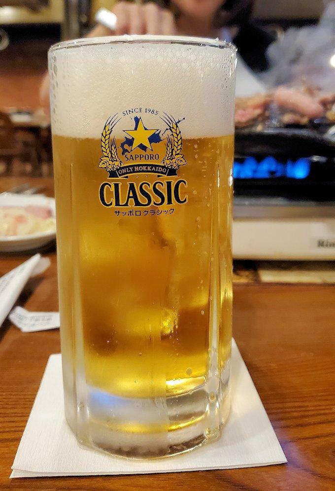 「サッポロビール園」で飲むサッポロビール2