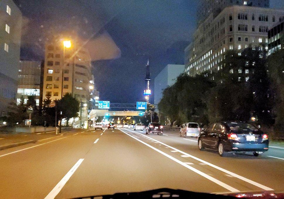 夜の札幌市内