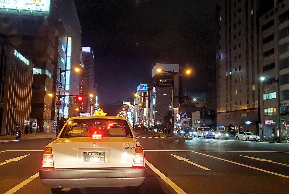 夜の札幌市内の景色1