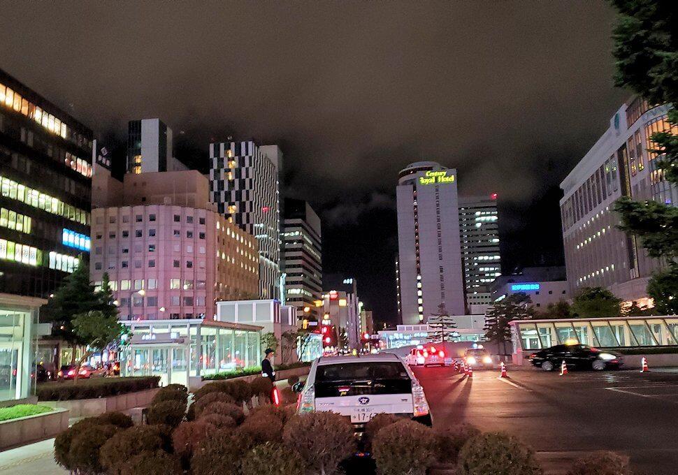 夜の札幌市内を散策1