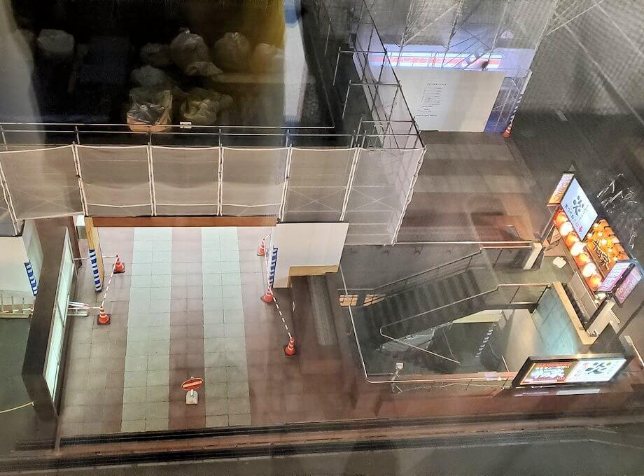 「JR東日本ホテルメッツ札幌」のシングルルームから見下ろした周辺の景色