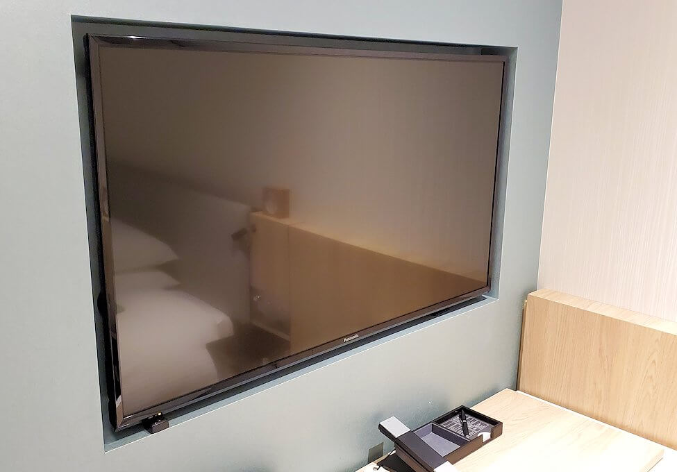 「JR東日本ホテルメッツ札幌」のシングルルームのテレビ