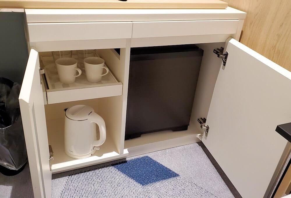 「JR東日本ホテルメッツ札幌」のシングルルームの冷蔵庫