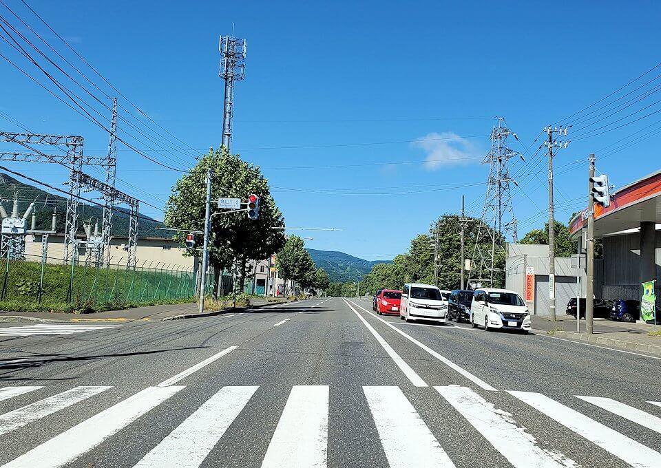 札幌市内から北を向いて進む